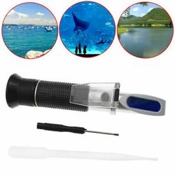 NEW 0-10% Fish Tank Aquarium Salinity Refractometer Salt Wat