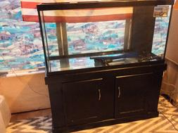 NEW 90 GAL Marineland Reef Ready Fishtank w/ Oak Stand Never