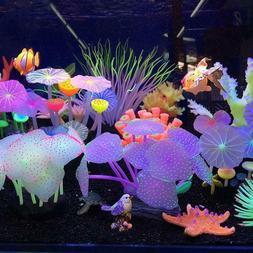 New Aquarium Fish Tank Decoration Ornament Silicone Mushroom