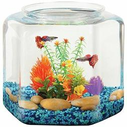 NEW Koller Products Bettatank 2 Gallon Hex Fish Bowl FREE2DA