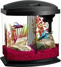 New Compact Fish Tank Led Mini Bow Aquarium Starter Kits wit