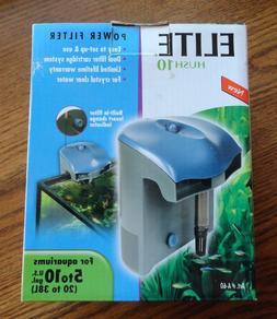 New ~ Hagen Elite Hush 10 Aquarium Filter 87 gph HOB For 10
