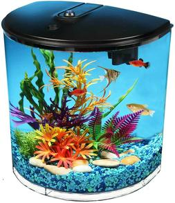New Unique Aquaview 3.5-Gallon Fish Tank with Power Filter a
