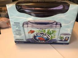NIB Betta Fish Kit Marina Aquarium Food Plant Gravel New!