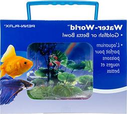 PENN PLAX  Goldfish Betta Fish Bowl With Decorations Plastic