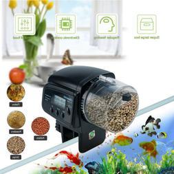 Pet Feeding Dispenser Automatic Fish Feeder Fish Tank LCD Di
