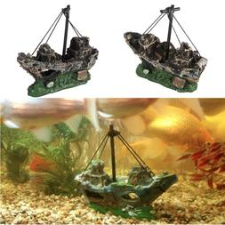Pirate Boat <font><b>Aquarium</b></font> Decoration Landscap