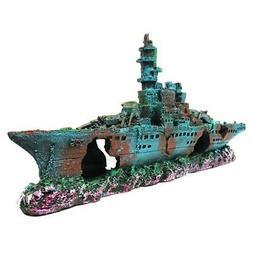 Pirate Ship Aquarium Decoration Boat Shipwreck Fish Tank Dec