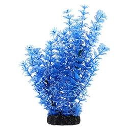 uxcell Plastic Aquarium Plant/Grass Decorative, Blue/White
