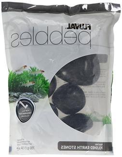 Fluval Polished Black Agate Stone for Aquarium 1.5-Pound