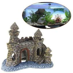 Polyresin Tower Castle Aquarium Ornament Fish Tank Decoratio
