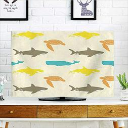 Jiahonghome Protect Your TV Decor Pattern with Whale Shark a
