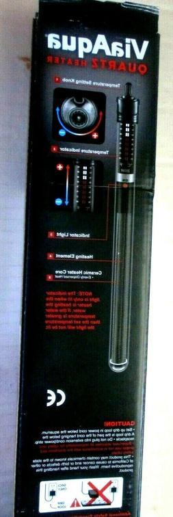 ViaAqua 200-Watt Quartz Glass Submersible Heater with Built-