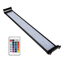 NICREW RGB LED Aquarium Light, Dimmable Fish Tank Light with