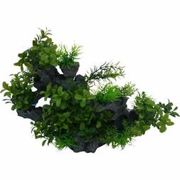Rock Outcrop w/Plants Artificial Decoration for any Aquarium