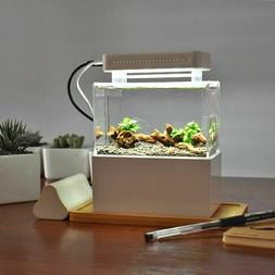 SALE Mini Plastic Fish Tank Portable Desktop Aquaponic Aquar