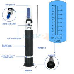 Salinity Refractometer Salt Meter Water Tester Marine 0-10%