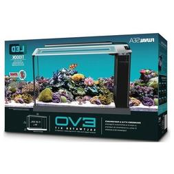 "Fluval SEA EVO Black Aquarium - 5 Gal.  - 20.5"" x 11.6"" x 7."