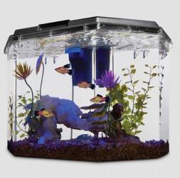 semi hexagonal aquarium kit 6 7 gal