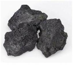 """Set of 2 Extra Large 5-6"""" Black Lava Rock Stone Fish Tank"""