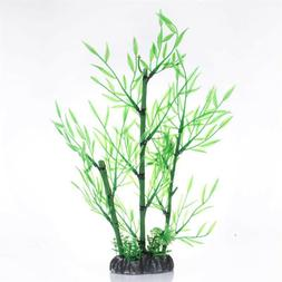 Simulation Green Artificial Bamboo Leaves Plants Fish Tanks
