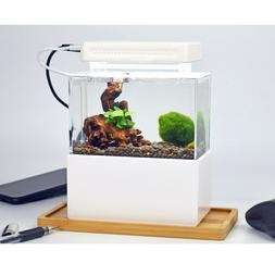 Small Plastic Fish Tank Portable Desktop Aquaponic Aquarium