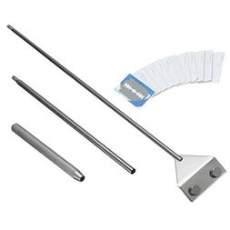 Stainless Steel Algae Scraper Cleaner with 10 Blades for Aqu