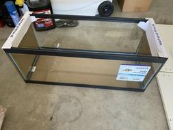 Aqueon Standard Glass 20 Gallon Long Aquarium Tank, Black Tr