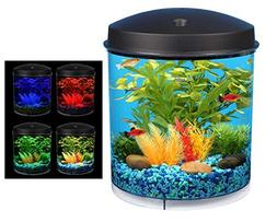Y.F.S. 2 Gal Starter Aquarium Kit LED Light Fish Tank Bowl F