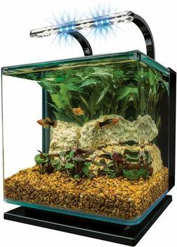 MarineLand Starter Pack Contour Glass Aquarium Kit with Rail