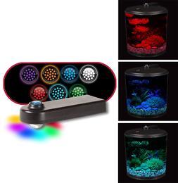 Tank Filter Led Aqua View 2 Gallon 360 Fish Lighting AQ360-2