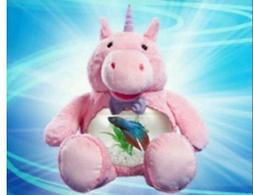 Teddy MAGICAL UNICORN Fish Tank, or for Snacks or Coins
