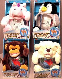 Teddy Tank Betta Fish Bowl Penguin/Dog/Monkey/Unicorn Aquari