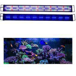 """KZKR Upgraded Aquarium Light LED Full Spectrum 48""""-60"""" Hood"""