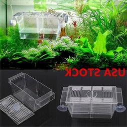US_ Aquarium Fish Tank Guppy Double Breeding Breeder Rearing