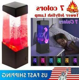 USA Jellyfish Aquarium LED Multicolor Lighting Fish Tank Moo
