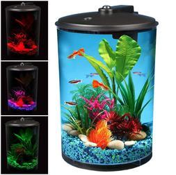 360 Aquarium 3 Gallon LED Lighting Fish Tank w/ Power Filter