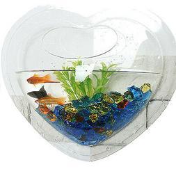 KAZE HOME Wall Mount Fishbowl, Heart