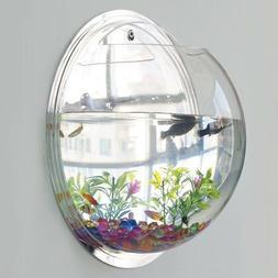 Wall Mounted Hanging Fish Bowl Aquarium Tank Beta Goldfish P