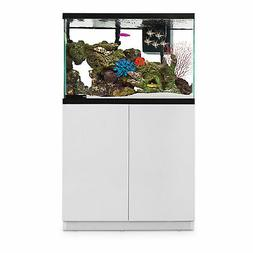 Imagitarium White Gloss Fish Tank Stand, Up to 40 Gal, 18.25